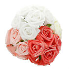 6X One Bouquet Latex Rose Flower Diy Bouquets Bridal Wedding Part Very Hot