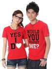 Will you marry me? YES, I DO! Lovers T-shirt Lycra Cotton Summer Couple SK6003