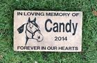 Personalized Cat Memorial Grave Stone Deeply Engraved Cat Silhouette and Text