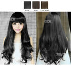 Fashion Women's Sexy Curly Hair Fluffy Round Face Medium Wigs Cosplay Party