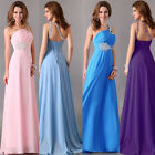 Vintage Long Chiffon Evening Party Ball Gown Prom Bridesmaid Wedding Dresses HOT