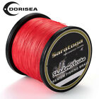 8 Strands 1000M Red PE Super Strong Dyneema Braided Fishing Line Sea / Lake