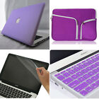 "4in1 Purple Laptop Rubberized Matt Case Cover for Macbook Air Pro 11"" 13"" 15"""