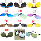 11 Colors Men/Women Polarized UV400 Lens Clip-on Flip-up Myopia SunGlasses TK