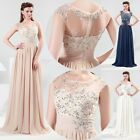 ELEGANT Sexy Long Chiffon Evening Party Bridesmaid Cocktail Prom Gown Long Dress