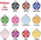 Red Dingo TRIBAL ARROWS Engraved Dog ID Pet Tag / Charm - Lifetime Guarantee