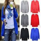 Womens Casual Cardigan Loose Long Sleeve Knit Sweater Coat Jumper Outwear Tops