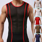 Mens A-Shirt Muscle Fit Casual Tank Tops Gym Sleeveless Undershirt Vests Singlet