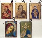 CHRISTIAN CATHOLIC ORTHODOX ICONS - TAPESTRY ROSARY CASE ZIP'D PURSE W CRUCIFIX