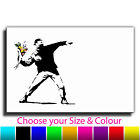 Flower Thrower Banksy Single Canvas Wall Art Picture Print