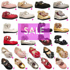 Girls Infant Kids Children CLEARANCE Party Sandals Velcro Bridesmaid Shoes 3-7