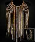 Sexy Womens Alloy Layered Tassel Bikini Summer Beach Necklace Waist Body Chain F