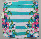 AEROPOSTALE Mini-Skirt NWT Turquoise Stripes STRETCH TUBE Tropical Flowers NWT