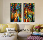 Walking In The Rain Strectched Canvas Prints Framed Wall Art Decor Abstract Deco