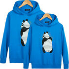 Women men tops Spring and Autumn clothes Lovers couple T- shirt Cute panda