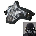 Strike Metal Mesh Protective Mask Half Face Tactical Airsoft Military Mask Fad
