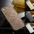 Bling Fitted Hard Back Case Cover For Apple Iphone 5 5s 4 4s Gold Silver Black