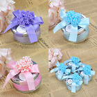 60PCS Purple/Blue/Pink Favor Boxes Wedding Party Birthday Candy Box Baby Shower