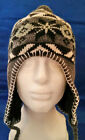 Peruvian style winter ski hats with Ear Flaps & Snow Flakes Men's Womens's