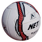 NET1 Flight Netball White Grey and Red Micro Dor Surface Offers Premium Grip