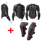 Motorcycle MX Racing Full Body Armor Spine Chest Protective Jacket+ Knee Guards