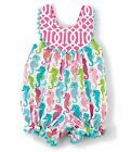 Mud Pie Under The Sea Seahorse Romper Baby Girls 3M to 18M #1132182 NWT