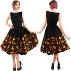 Yellow Autumn Dress Black Vintage Swing Vintage 50's Rockabilly Pinup Chicstar