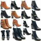 NEW LADIES CHELSEA WOMENS GOLD CHAIN ANKLE BOOTS HIGH HEEL SHOES BOOTIES SIZES