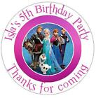 PERSONALISED BIRTHDAY FROZEN STICKERS SEALS GIFT FAVOURS INVITES KIDCS113