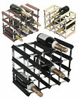 RTA 16 Bottle Traditional Wooden Wine Rack Natural / Dark / Black Ash Pine