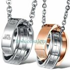 High Polished Stainless Steel Interlocking Rings Pendant Women's Men's Necklaces