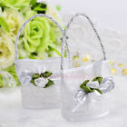 50PCS Basket Favor Boxes Wedding Party Birthday Gift Candy Box Ribbons Flower