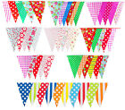 Bunting Vintage Pattern Shabby Chic Floral Spot Stripe Gingham Party Wedding 10m