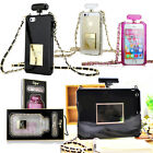 Luxury Perfume Bottle Silicone Case Chain Handbag For Phones Tablets +Free Gifts