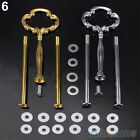 Multi-Style 2 Or 3 Tier Plate Handle Fitting Hardware Rod Tool Cake Plate Stand