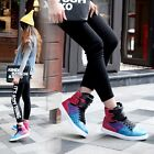 Fashion Womens Girls Lace Up Velcro Trainers Flat Heel Ankle Boots Hip-hop shoes