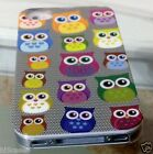 Apple iPhone 4 4S FUNKY OWL Hard cover Case OWL 6 designs glossy slim case cover