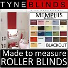 MEMPHIS BLACKOUT ROLLER BLINDS - straight edge - made to your exact size.