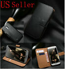 Luxury Genuine Real Leather Flip Case Wallet Cover Samsung Galaxy S3 S4 Models