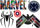 WALL STICKER OR IRON ON FABRIC T SHIRT TRANSFER MARVEL AVENGERS SHIELD  BADGE