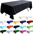"""Tablecloth Table Cover 108x58"""" Rectangle Party Theme Linen New"""