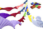 4  RETRO STYLE CREPE PAPER CHRISTMAS PARTY CEILING DECORATIONS (dark 4 mix)