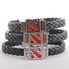 NEW Dota 2 Sign Leather Alloy Wristbands Bracelet 3 Colors Great Gift