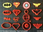Super Hero Cookie Cutter (Set A) / Fondant Cutter / Cupcake Topper - (14pc Set )