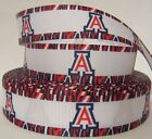 "GROSGRAIN UNIVERSITY OF ARIZONA 1"" INCH RIBBON FOR HAIR BOWS DIY CRAFTS"