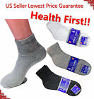 12 Pairs Diabetic ANKLE QUARTER Crew Circulatory Socks Health Cotton Mens Color