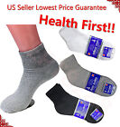 3, 6, 12 Pairs Diabetic ANKLE QUARTER Circulatory Socks Health Cotton Mens Color