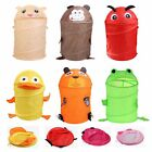 Kids Animal Foldable Hamper Basket Toy Bag Box Laundry Clothes Storage Basket VF