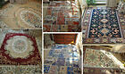 French Country Victorian Traditional Patterned Floral Red Floor Rug Area Carpet