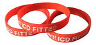 ICD Fitted Patient  Silicone Medical Help Wrist Bands 2 bands pack